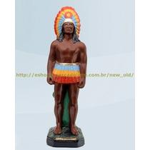 Escultura Caboclo Lage Grande 50cm Altura Melhor Preço