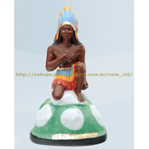 Escultura Caboclo Sete Pedreiras 50cm Altura Melhor Preço
