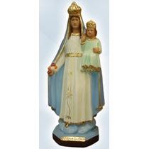 Escultura Nossa Senhora Da Gloria Gesso 30 Cm