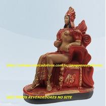 Linda Escultura Pombagira Rainha Do Oriente Imagem 60cm