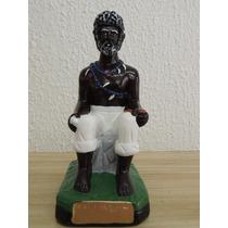 Imagem Preto Velho Pai Joaquim De Angola Em Gesso - 15cm