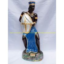 Escultura Orixa Pai Ogum Imagem 40cm Linda Pintura Brilhante