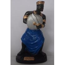Imagem Ogum Escultura Orixá Candomblé Africano Estatua Gesso