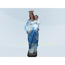 Escultura Nossa Senhora Auxiliadora Linda Imagem 30cm Arte