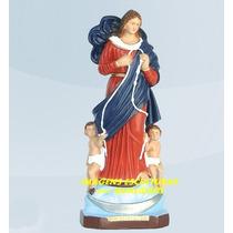 Escultura Nossa Senhora Desatadora Dos Nós Linda Imagem 20cm