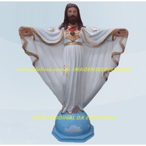Escultura Jesus Cristo Redentor Oxala Linda Imagem 40cm Ml