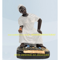 Escultura Preta Velha Mãe Izabel Linda Imagem 20cm Promoção