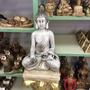 Buda Indu 45cm De Gesso Pintado À Mão
