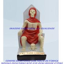 Escultura Exú Tatá Caveira Imagem 20cm Menor Preço Do Ml