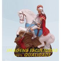 Escultura São Jorge Guerreiro Ogum Imagem 25cm Frete Gratis