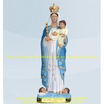 Escultura Nossa Senhora Da Luz Linda Imagem 30cm Fabrica
