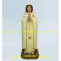 Escultura Nossa Senhora Rosa Mistica Linda Imagem 30cm