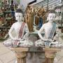 Buda Indu 60cm De Gesso Pintado À Mão