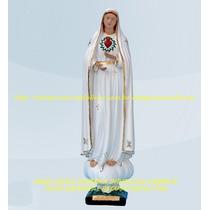 Escultura Nossa Senhora Fatima Sagrado Coração Imagem 50cm