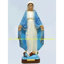 Escultura Nossa Senhora Graças Linda Imagem 40cm Fret Gratis