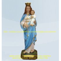 Escultura Nossa Senhora Rosario Linda Imagem 40cm Fabrica
