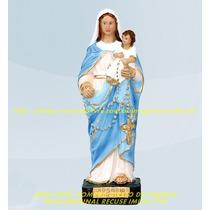 Escultura Nossa Senhora Rosario São Nicolas Imagem 20cm Ml
