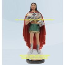 Escultura Ogum Sete Ondas 20cm Linda Imagem Melhor Preço Ml
