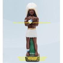 Escultura Caboclo Pena Branca 30cm Imagem Melhor Preço Ml