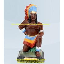 Escultura Caboclo Humaitá 30cm Imagem Melhor Preço Do Ml