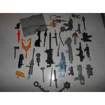 Miniaturas De Armas E Acessórios Para Bonecos Lote Com 35