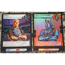Card Game Especiais Gi Joe 2004 Duke E Cobra Commander