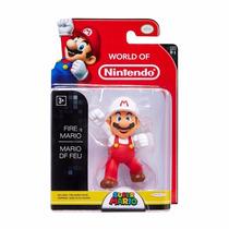 Mario Bros World Of Nintendo 2.5 Action Figure Fire Mario