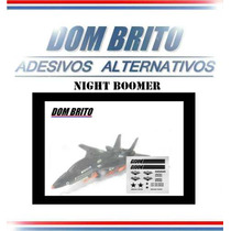 Adesivos Para O Night Force Boomer Gi Joe F-14 Caça