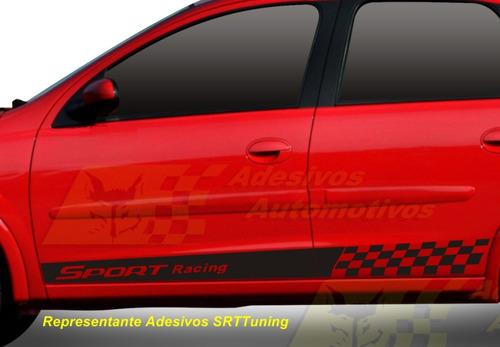 Gm Corsa Adesivo Racing Kit Faixas Laterais Tuning Carros R 49 00