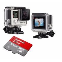 Gopro Hero4 Silver Camera Go Pro 4 Tela Lcd Wi-fi +64gb C/10