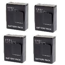 Kit Baterias Ahdbt 4 Unidades Gopro Hd Hero3 / Gopro Hero 3+