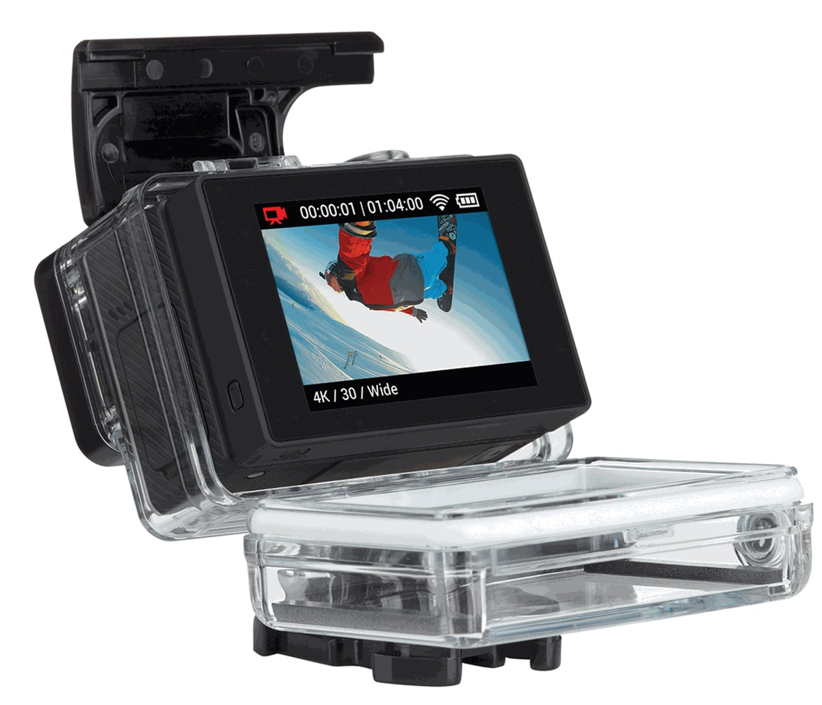 gopro hero 4 black edition tela lcd 64 gb go pro hero4. Black Bedroom Furniture Sets. Home Design Ideas