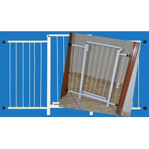 Portão Grade Proteção Porta Criança Pet Cães 139 Cm A 144 Cm