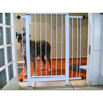 Grade Porta Portão Pet Criança Bebe Cão Gratis Extensor 10cm