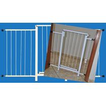 Portão Grade Proteção Porta Criança Pet Cães 144 Cm A 149 Cm