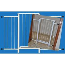 Portão Grade Proteção Porta Criança Pet Cães 124 Cm A 129 Cm
