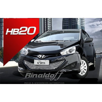 Sobre Grade Hb20 Hyundai Aço Inox Darta 1 Peça Para Choque