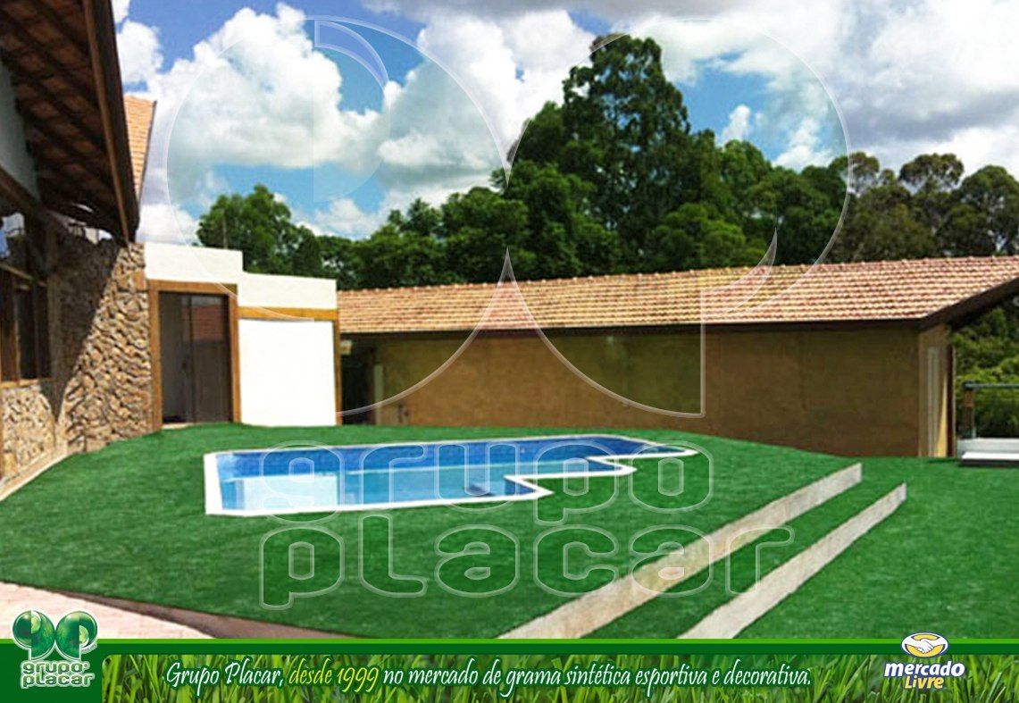 grama sintetica para jardim em curitiba:Grama Sintética Decorativa Playground Piscina Jardim Futebol – R$ 29