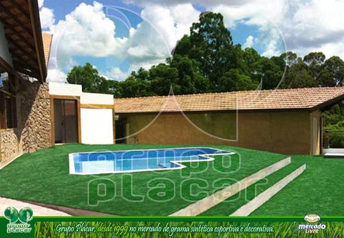 Grama Sintética Decorativa Playground Piscina Jardim Futebol