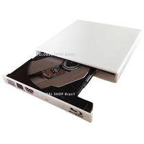 Gravadora Blu-ray 3d Cd Dvd Usb Slim Externo Branco Uj260