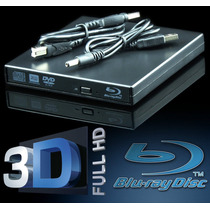 Gravadora Blu-ray 3d Usb Externo Slim Cd Dvd Leitor Bluray