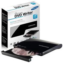 Gravador Leitor Slim Externo Samsung Cd Dvd Usb Preto Design