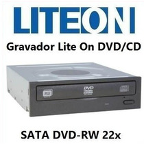 Gravador E Leitor De Dvd/cd-rw Lite-on Sata Mod:ihas120-04du