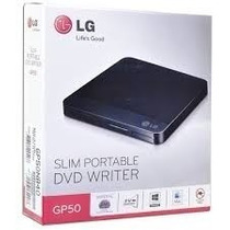 Gravador Externo Cd E Dvd Lg Gp50nb40 Preto Usb 2.0