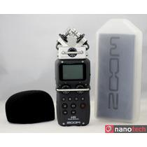 Gravador De Voz Digital Zoom H5 4 Canais + Acessorios +case