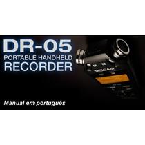 Manual Tascam Dr-05 Em Português Com Imagens Completo Em Pdf