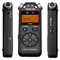 Gravador Voz Tascam Dr-05 Digital Portátil Wav E Mp3 + 4gb
