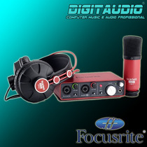 Focusrite Scarlett Studio 2i2 - Interface+fone+microfone