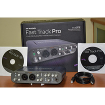 Placa Interface Fast Track Pro M Audio 4x4 Protools Se