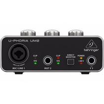Um2 Interface De Audio Usb Behringer U-phoria Um-2